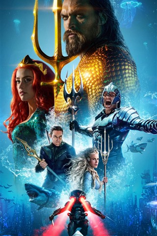 iPhone Wallpaper Aquaman 2018, Marvel hero