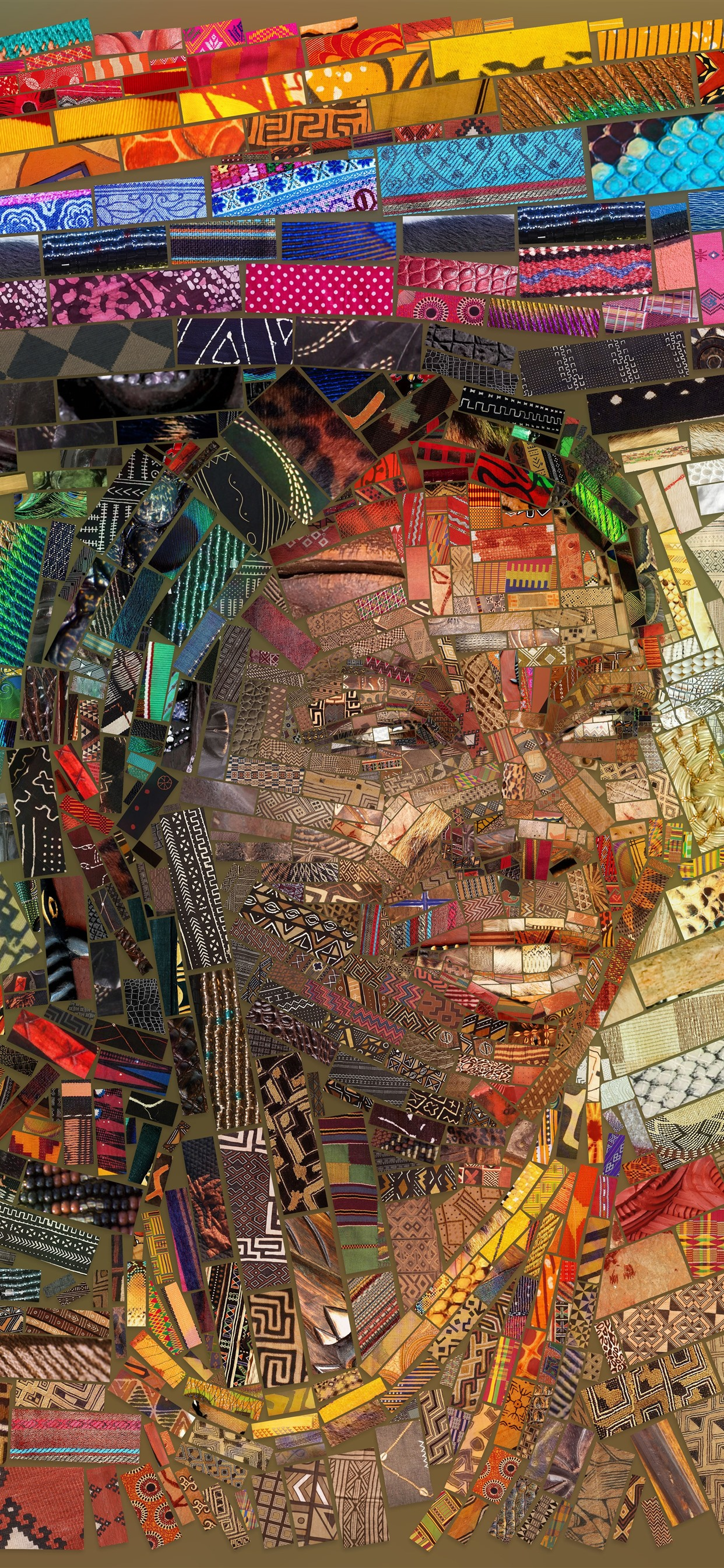 Art Picture Mosaic Africa Girl Book 1242x2688 Iphone Xs