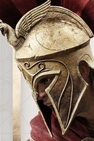 iPhone Wallpaper Assassin's Creed: Odyssey, armor, sword
