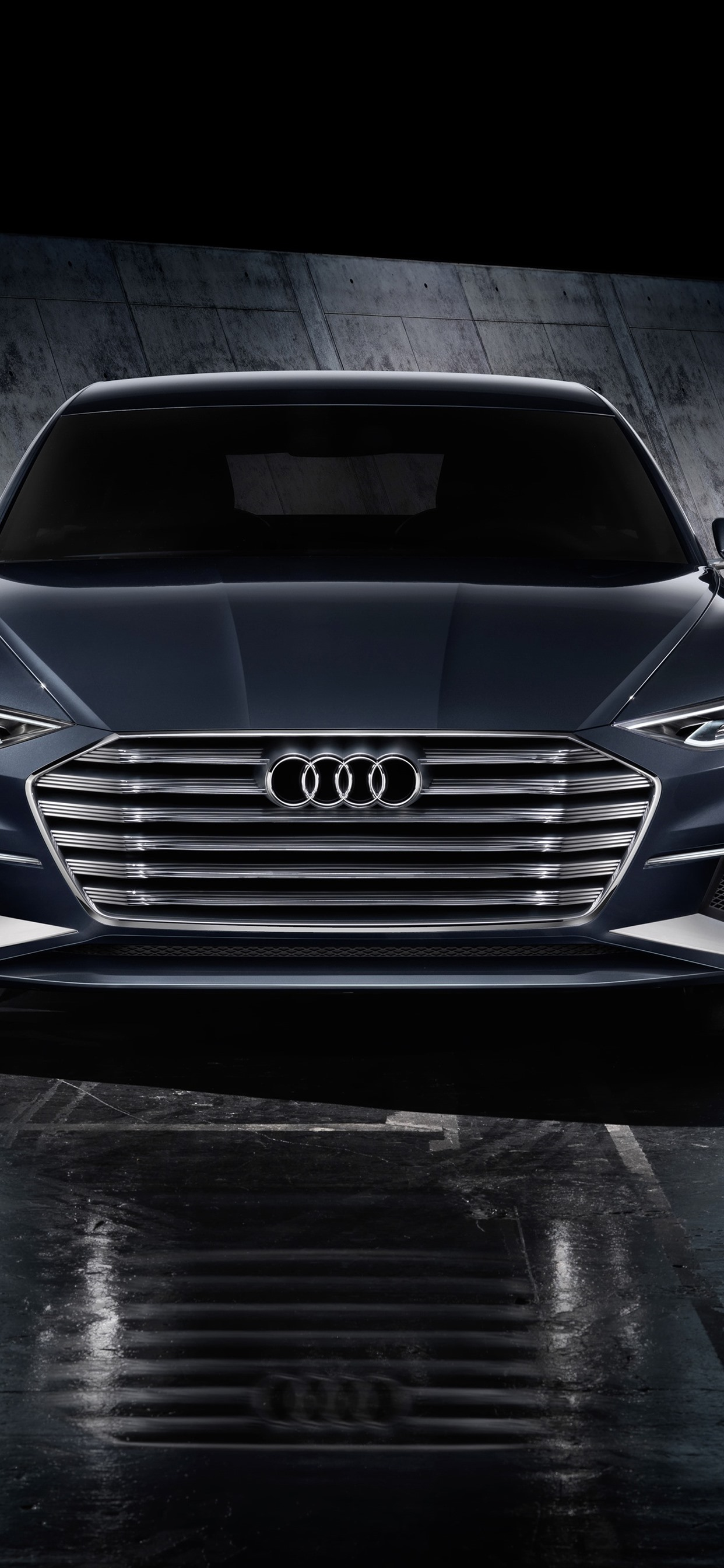 Audi Black Car Front View Headlight 1242x2688 Iphone Xs Max