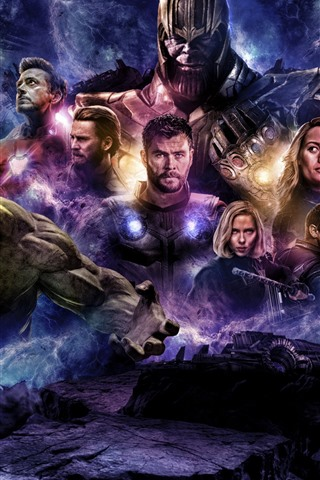 iPhone Wallpaper Avengers: Endgame, DC Comics movie 2019