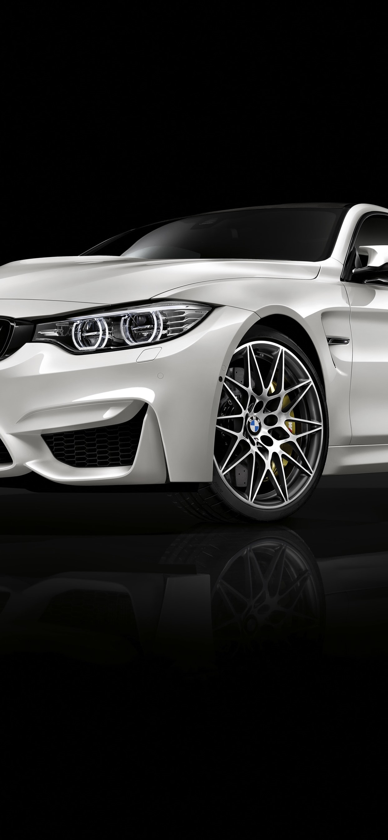 Bmw M4 White Car Front View Black Background 1242x2688 Iphone 11 Pro Xs Max Wallpaper Background Picture Image