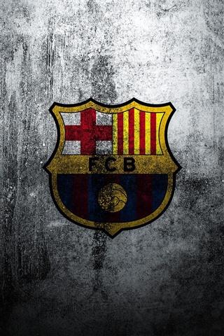 iPhone Fondos de pantalla Barcelona, logo, pared