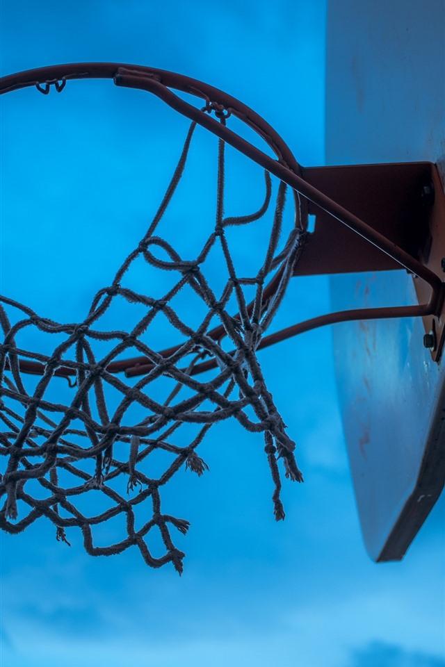 バスケットボール ネット 青空 750x1334 Iphone 8 7 6 6s 壁紙 背景 画像