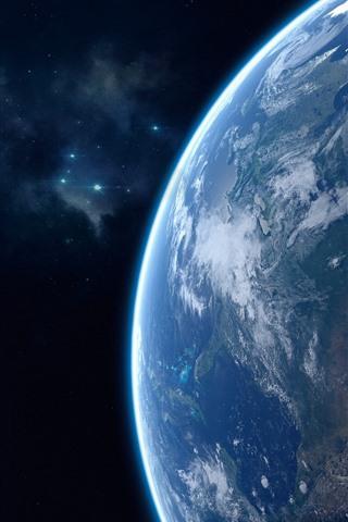 iPhone Fondos de pantalla Tierra hermosa, planeta azul
