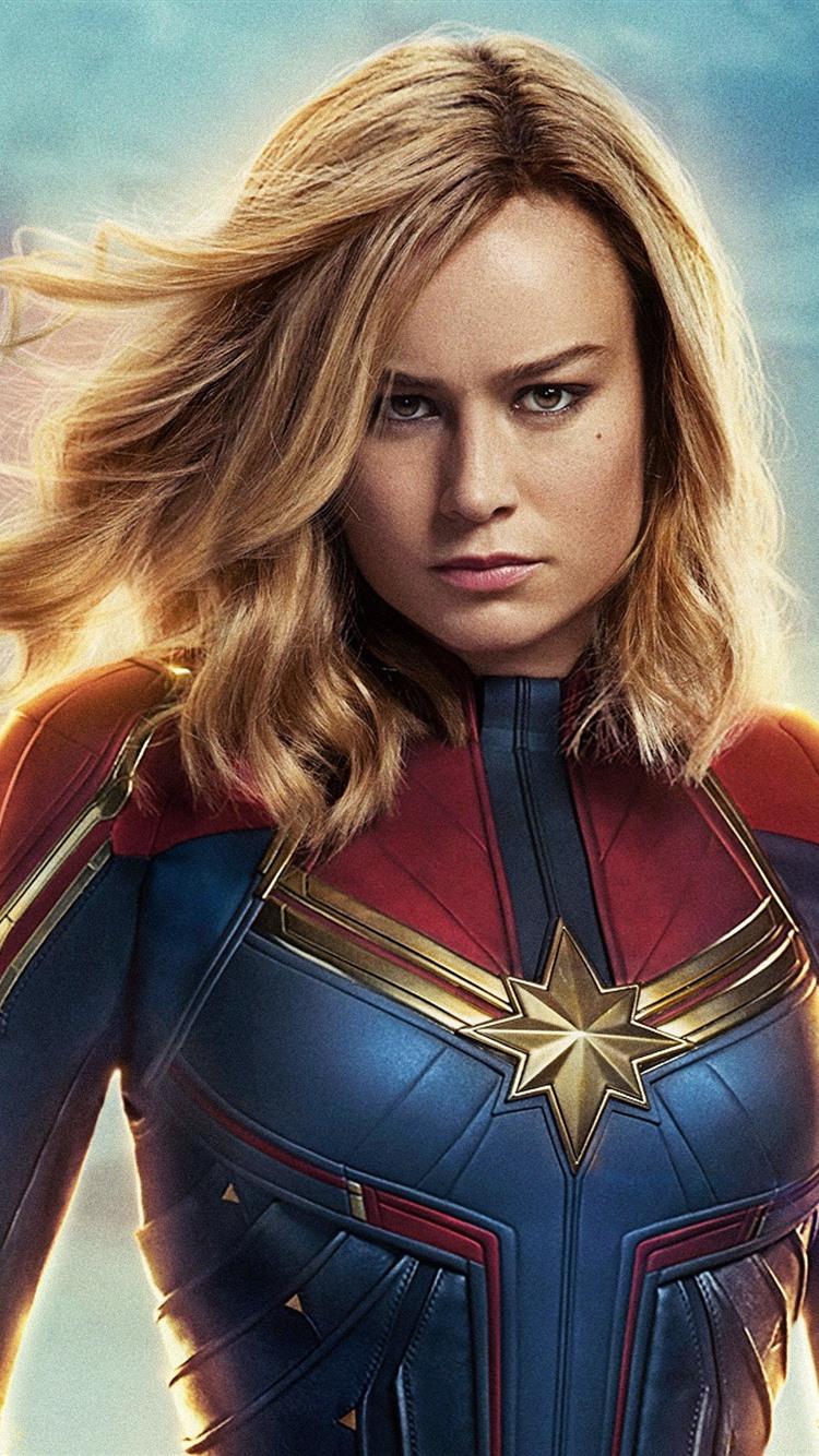 Brie Larson Captain Marvel 2019 1080x1920 Iphone 8 7 6 6s