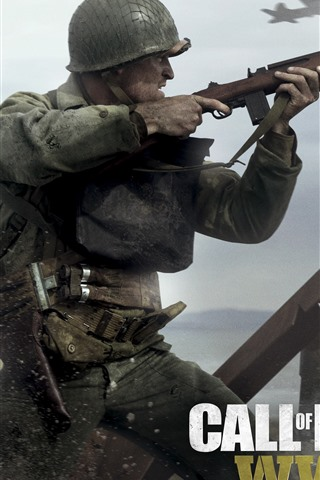 iPhone Wallpaper Call of Duty: WWII, video games