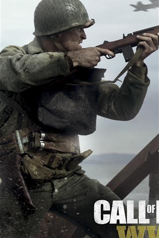 iPhone Papéis de Parede Call of Duty: Segunda Guerra Mundial, video games