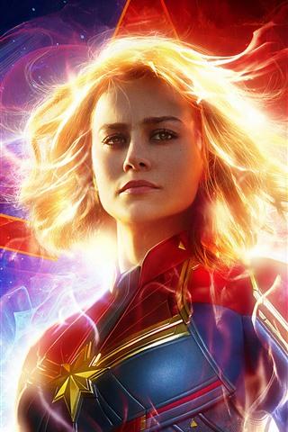 iPhone Wallpaper Captain Marvel 2019