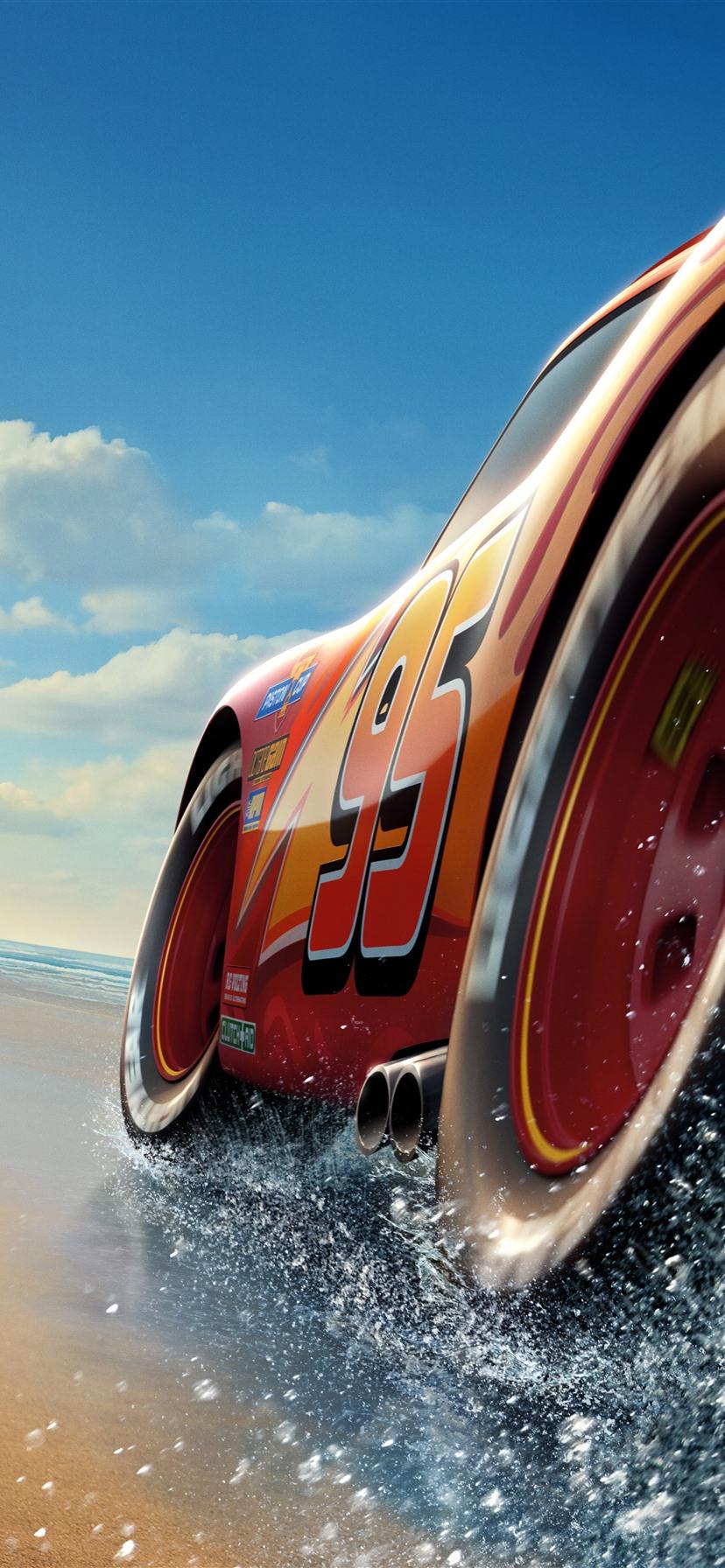 Wallpaper Cars 3 Lightning Mcqueen Beach Sea 7680x4320 Uhd 8k
