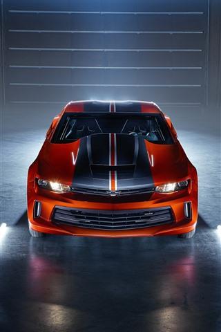 iPhone Fondos de pantalla Chevrolet Camaro coches vista frontal