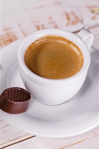 Coffee And Milk Spoon Chocolate 1242x2688 Iphone Xs Max