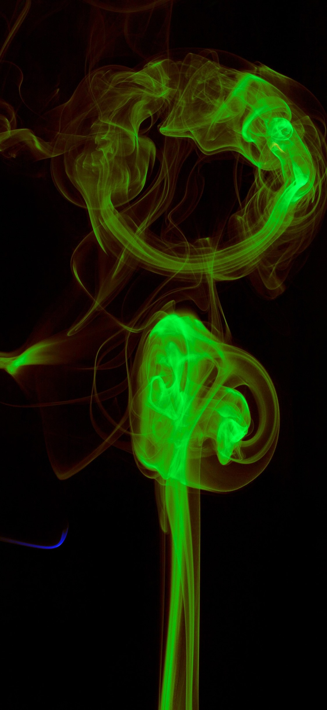 Colorful Smoke Blue Green Red 1242x2688 Iphone Xs Max
