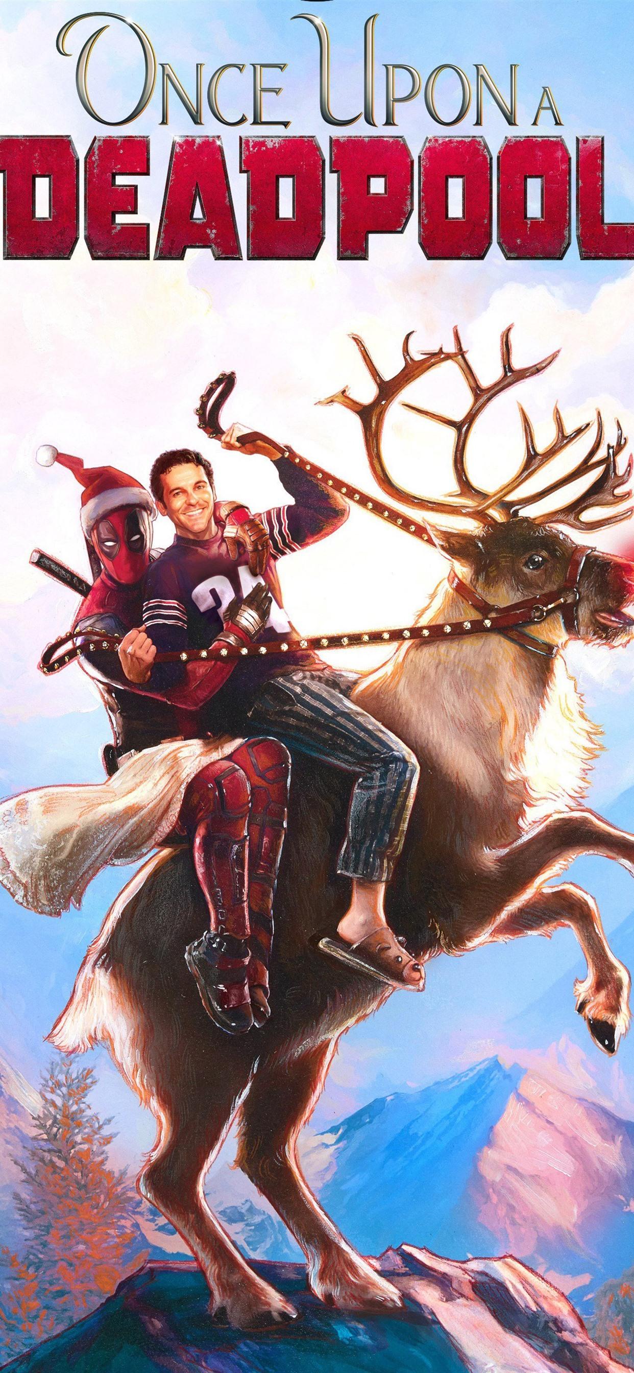 Deadpool 2 Superhero Deer Christmas 1242x2688 Iphone Xs Max