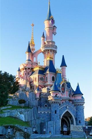 iPhone Fondos de pantalla Disneyland, castillo