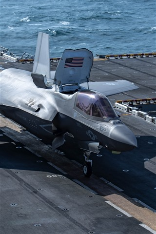 iPhone Fondos de pantalla F-35B Luchador Lightning II, cubierta