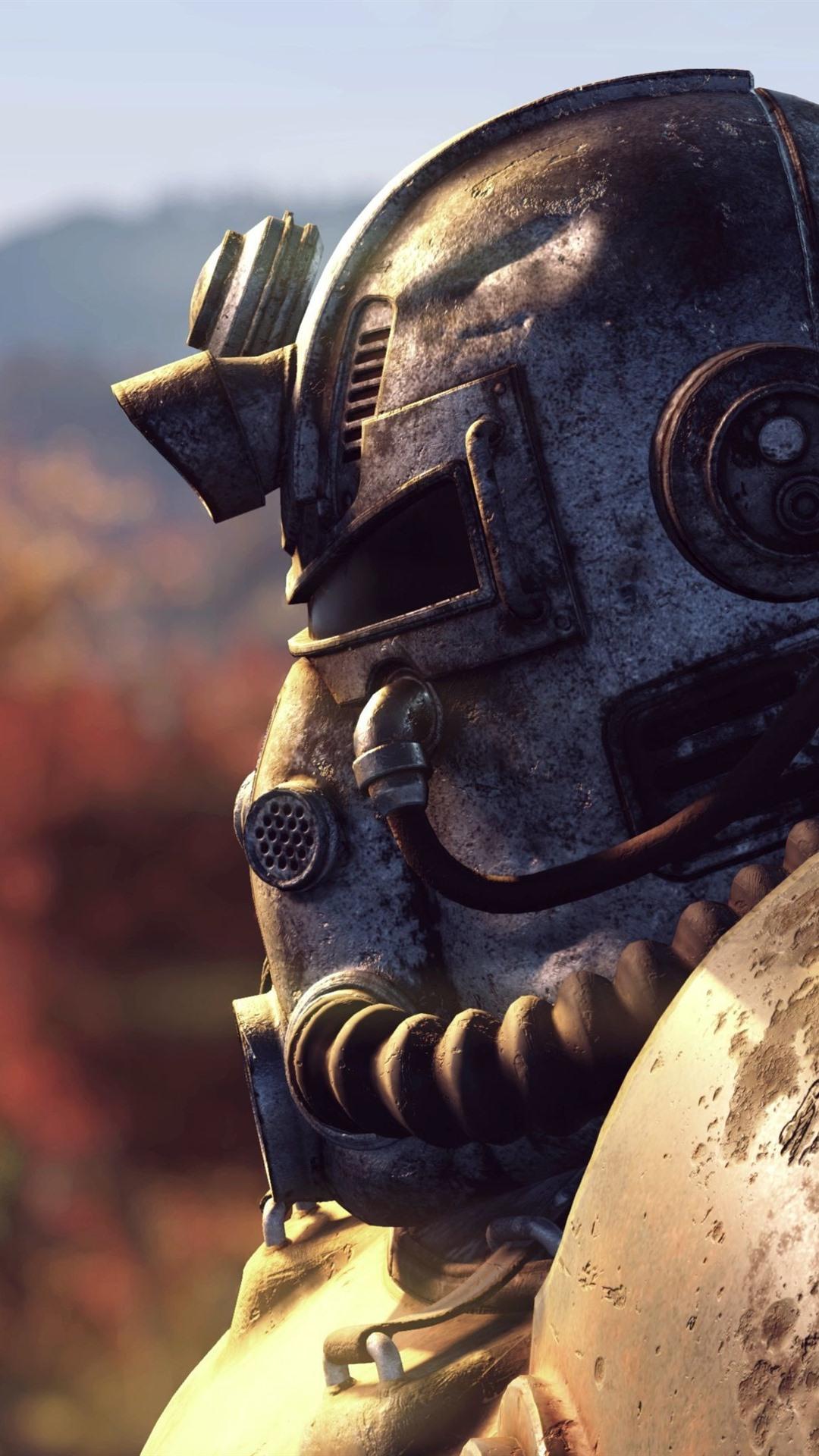 Fallout Warrior Helmet 1080x1920 Iphone 8 7 6 6s Plus