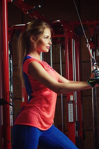 iPhone Wallpaper Fitness girl, gym, sport