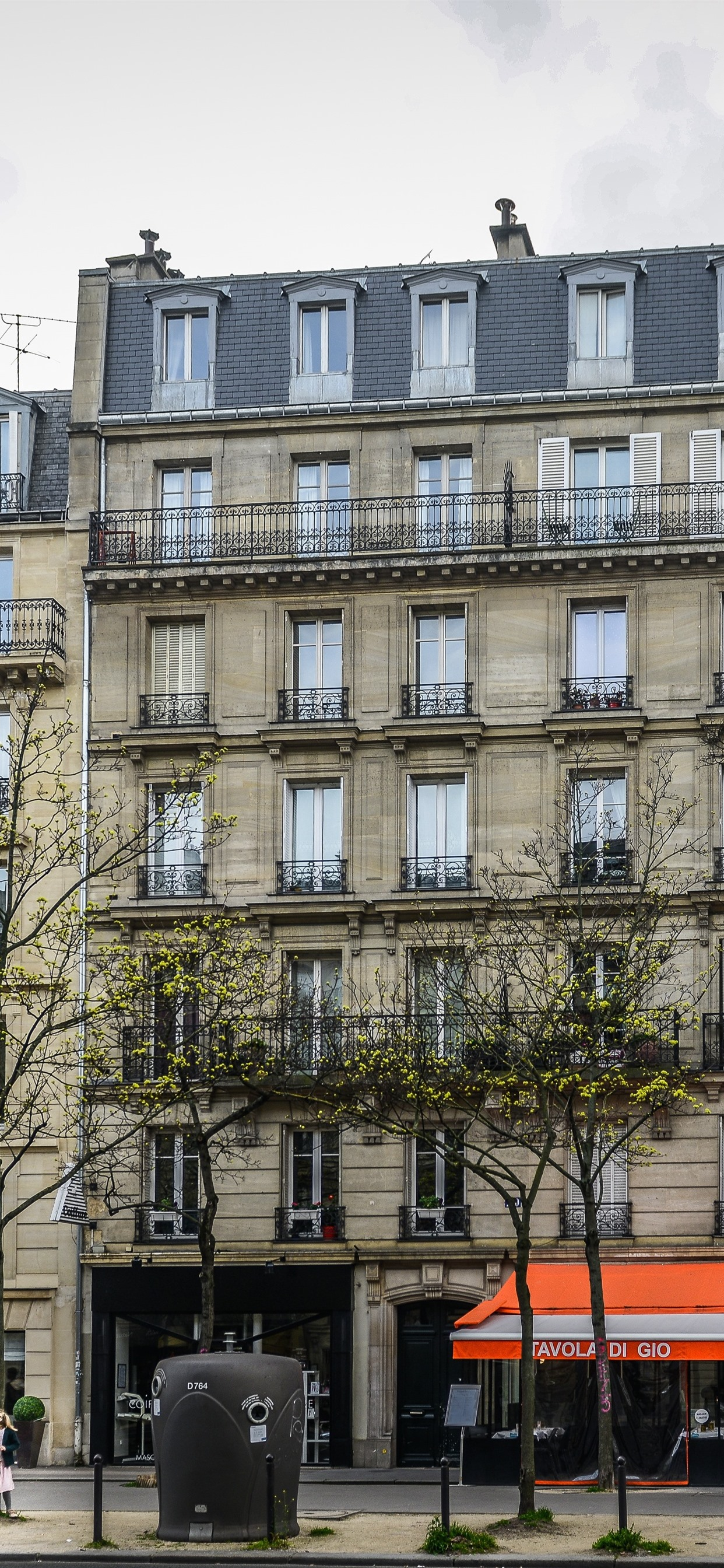 France Paris Buildings Windows Trees Street 1242x2688 Iphone 11 Pro Xs Max Wallpaper Background Picture Image
