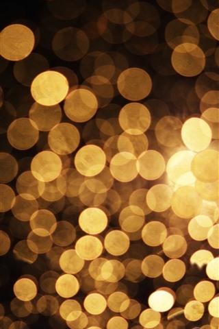 iPhone Fondos de pantalla Círculos dorados, brillo, abstractos.
