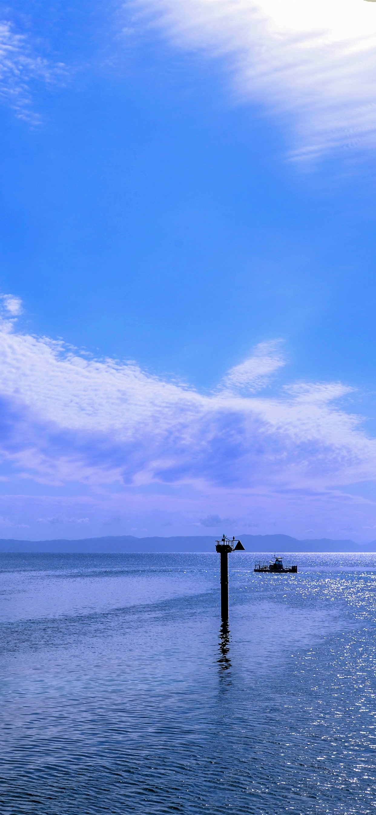 Wallpaper Great Barrier Reef Sea And Sky Blue