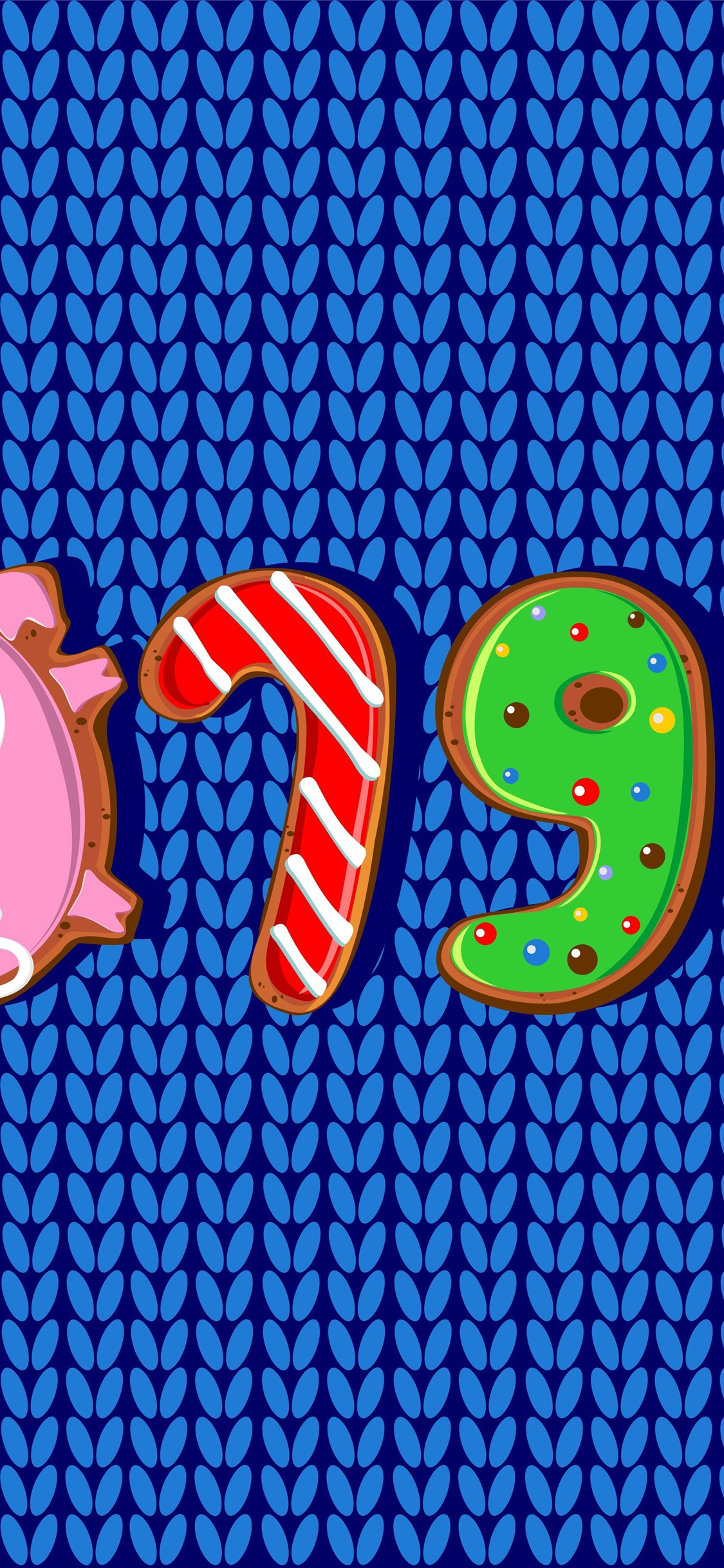 Wallpaper Happy New Year 2019, pig year, cookies, art