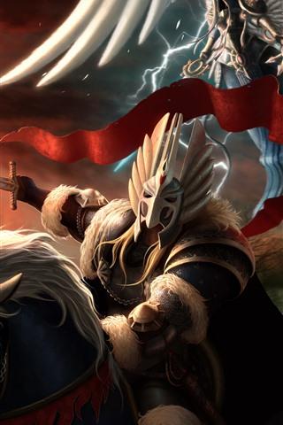 iPhone Papéis de Parede Heróis do Poder e Magia, imagens de arte
