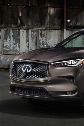 iPhone Wallpaper Infiniti QX50 brown car 2019
