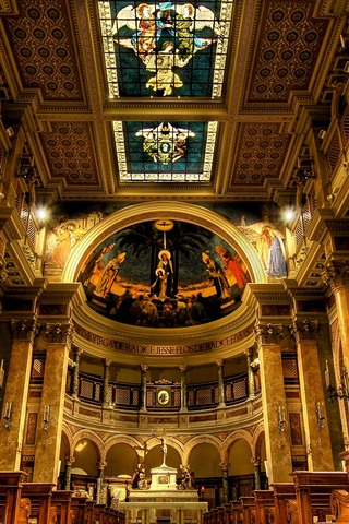 iPhone Fondos de pantalla Italia, Roma, iglesia, interior