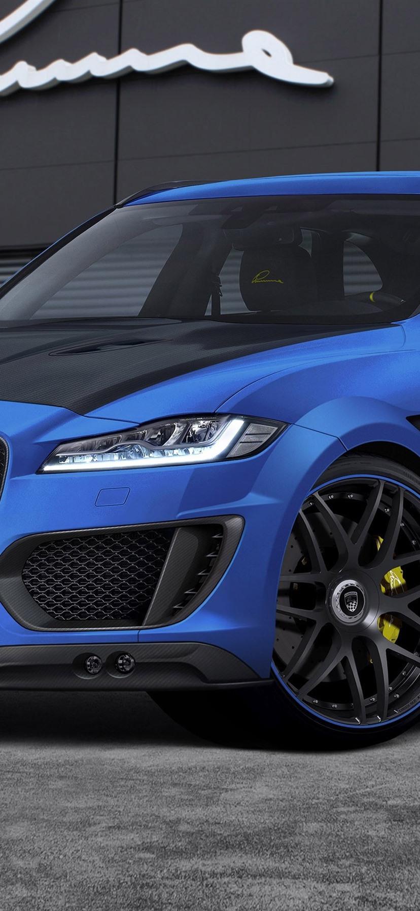 Jaguar F Pace Clr F Blue Car 828x1792 Iphone Xr Wallpaper