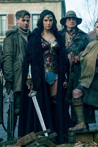 iPhone Hintergrundbilder Justice League, DC Comics, Wunderfilm, Wonder Woman