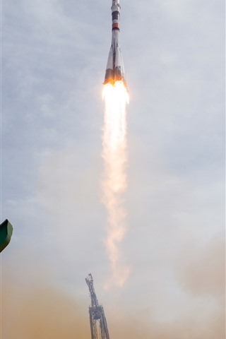 iPhone Wallpaper Kazakhstan, Baikonur, rocket launches