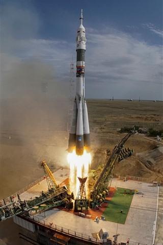 iPhone Papéis de Parede Cazaquistão, lançamento de foguetes, energia