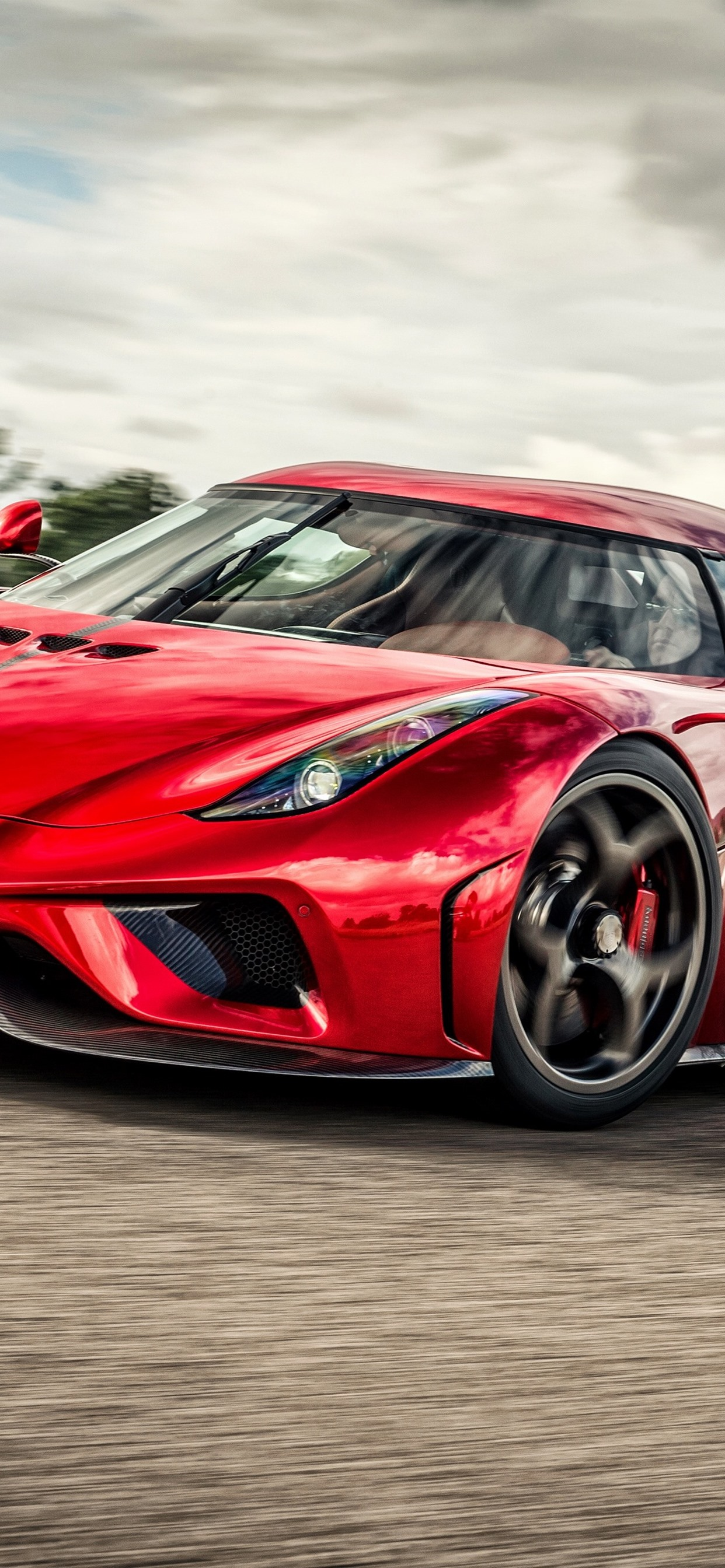 Koenigsegg red supercar front view 1242x2688 iPhone XS Max ...