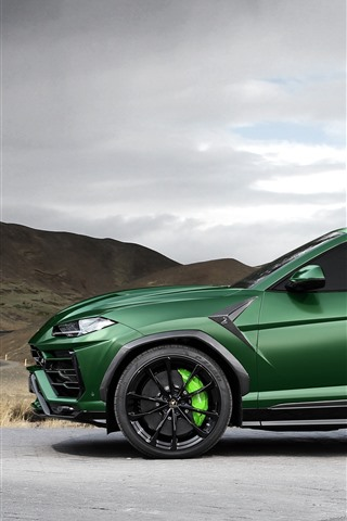 Lamborghini Urus 2018 Green Suv Car Side View 1242x2688 Iphone 11 Pro Xs Max Wallpaper Background Picture Image