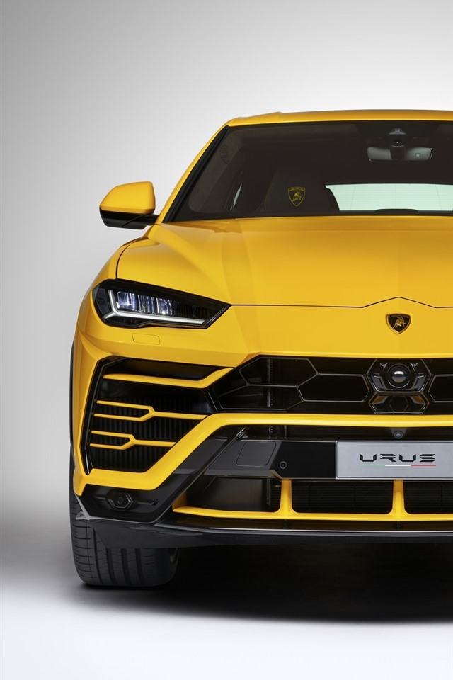 Wallpaper Lamborghini Urus Yellow Suv Supercar Front View