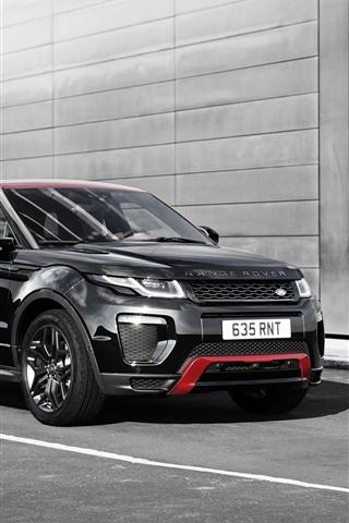 iPhone Fondos de pantalla Land rover Range Rover SUV negro coche