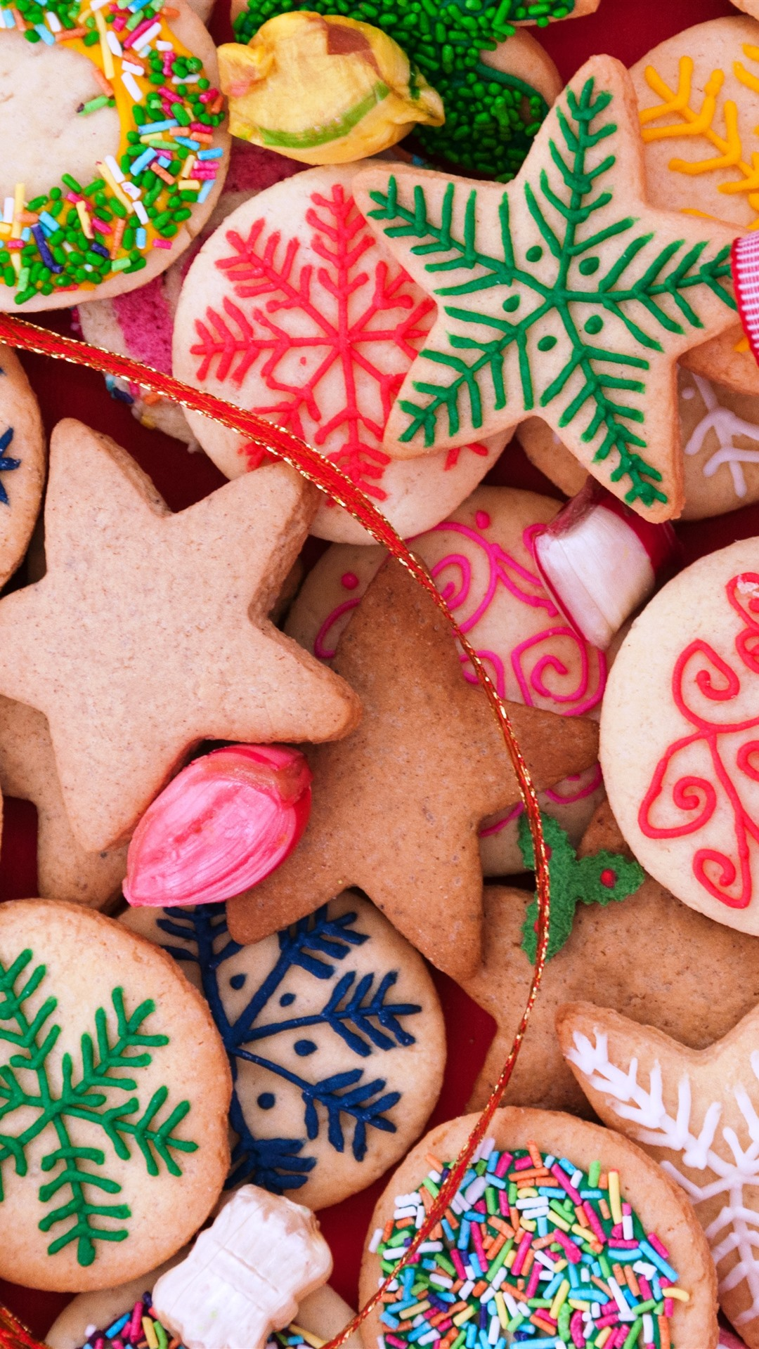Many Kinds Of Cookies Colors Merry Christmas 1242x2688 Iphone 11 Pro Xs Max Wallpaper Background Picture Image