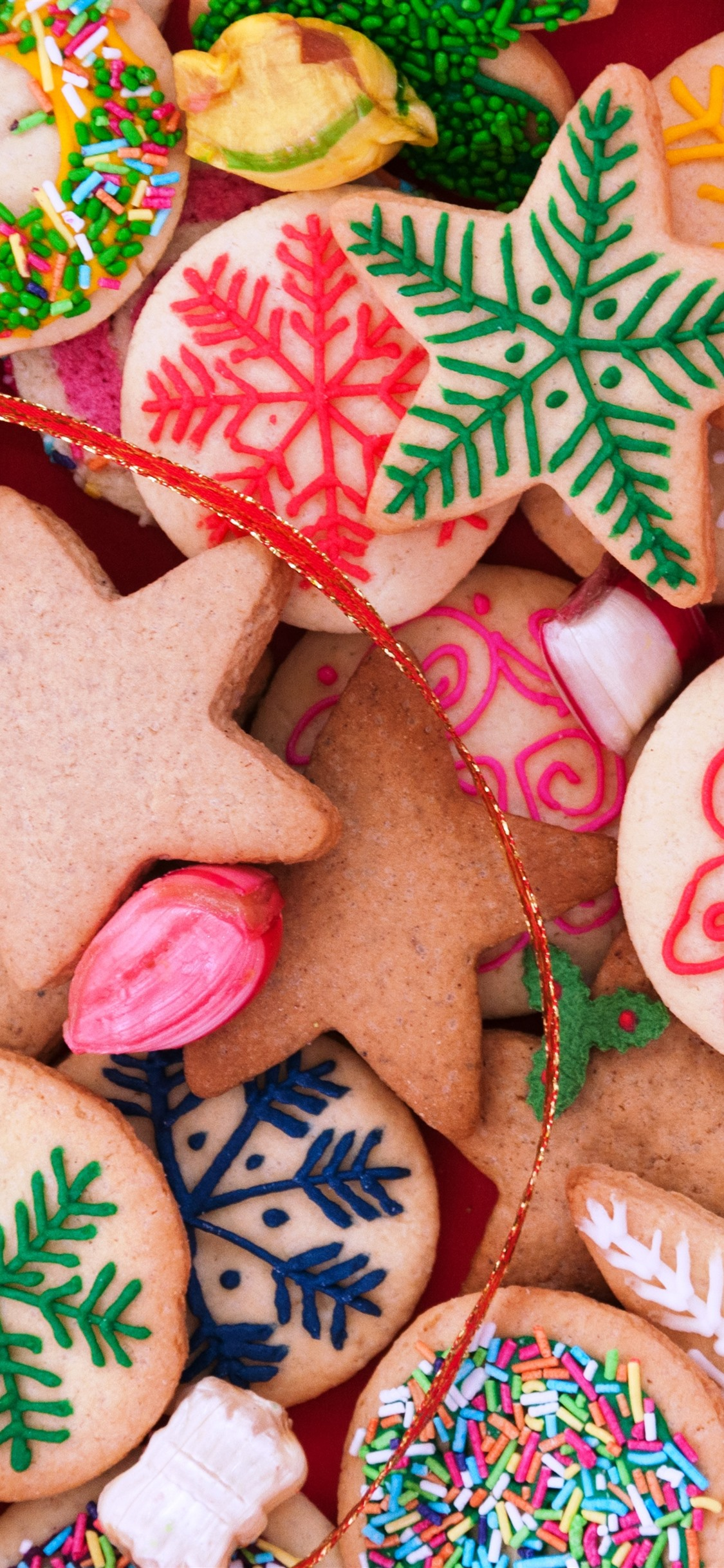 Many Kinds Of Cookies Colors Merry Christmas 1242x2688