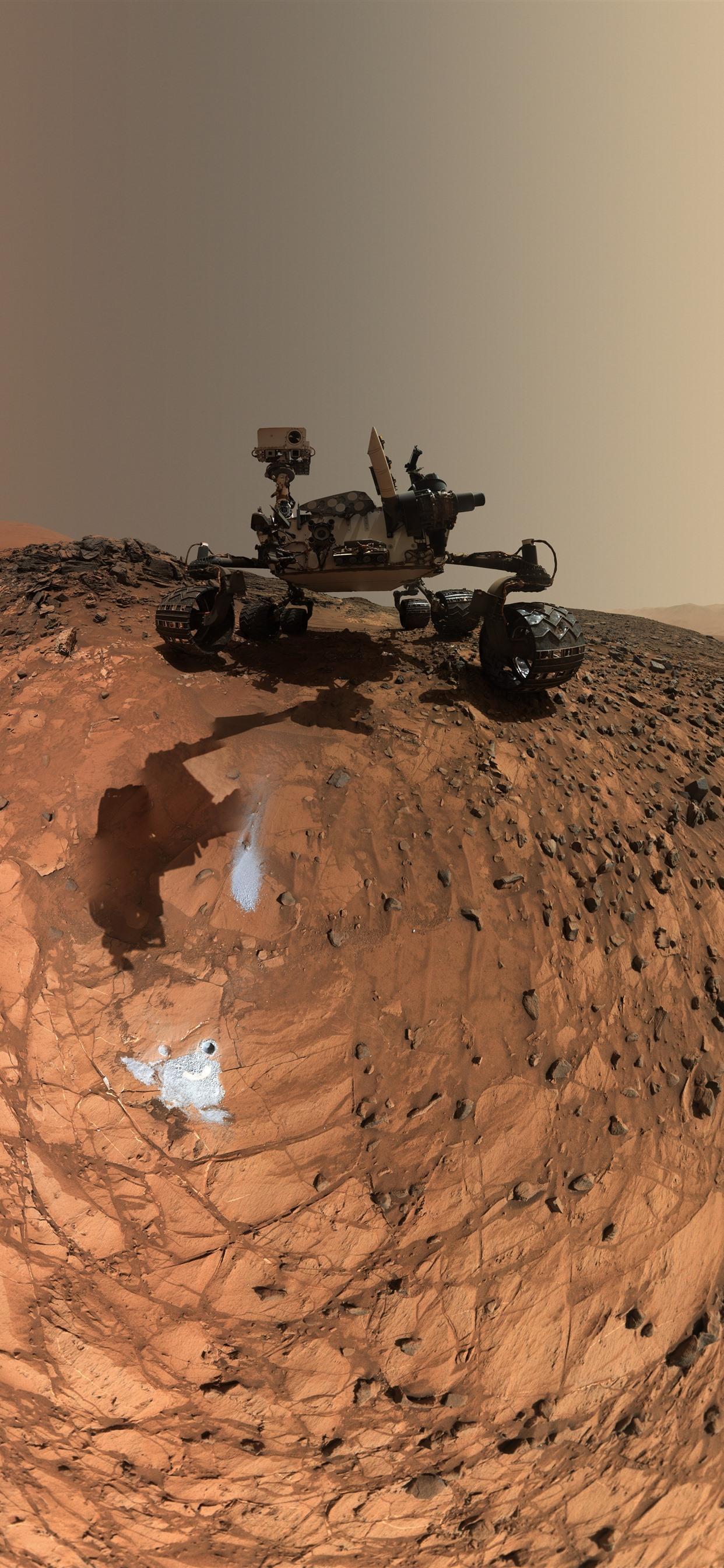 壁纸火星 好奇号火星探测车 岩石 美国宇航局7680x4320 Uhd 8k 高清