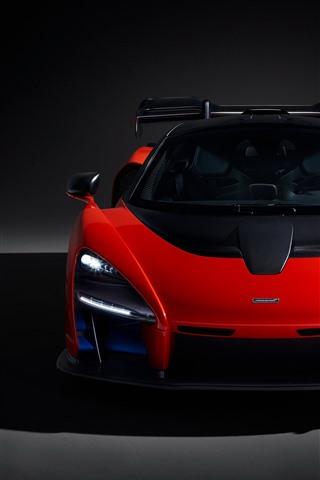 マクラーレン 18レッドスーパーカーフロントビュー ヘッドライト 1080x19 Iphone 8 7 6 6s Plus 壁紙 背景 画像