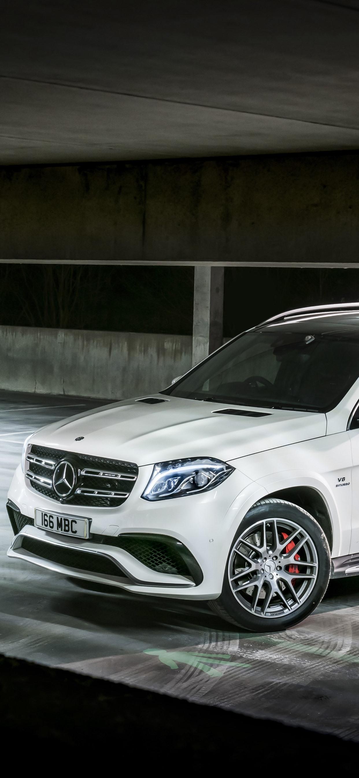 Mercedes Benz Amg X166 Suv Blanco 1242x2688 Iphone Xs Max