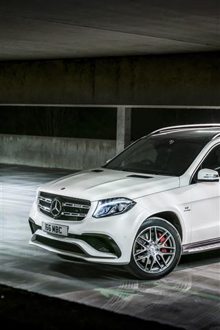 Mercedes Benz Amg X166 White Suv Car 1242x2688 Iphone Xs Max
