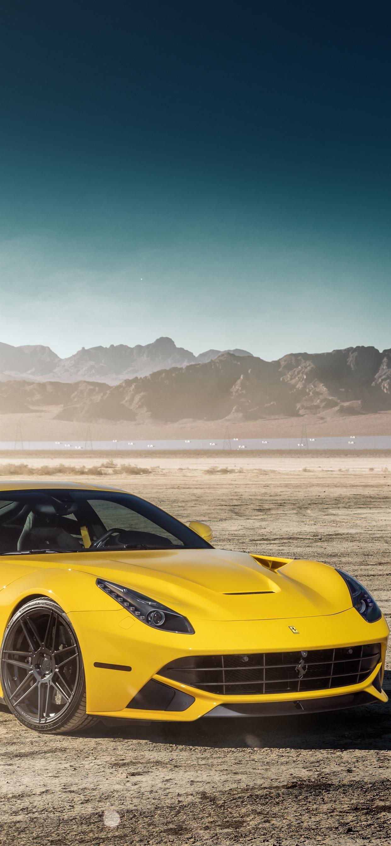 Mercedes Benz Gtr Green Supercar And Ferrari F12 Yellow Supercar