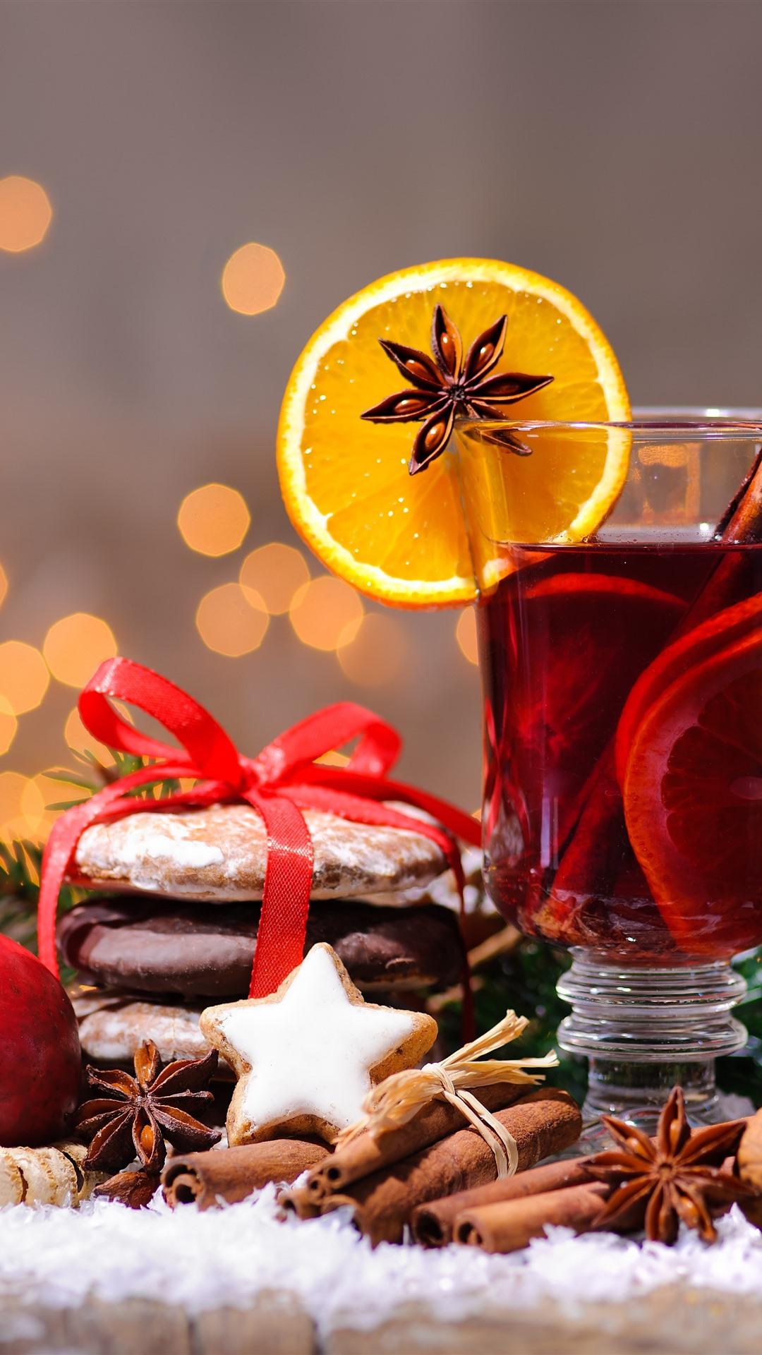壁紙 メリークリスマス 紅茶 シナモン オレンジスライス 赤リンゴ ナッツ 果実 51x Uhd 5k 無料のデスクトップの背景 画像