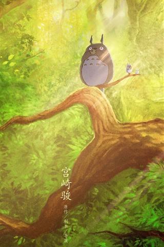 iPhone Wallpaper My Neighbor Totoro, Hayao Miyazaki, classic anime