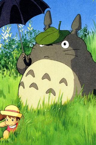 iPhone Fondos de pantalla My Neighbor Totoro, anime clásico
