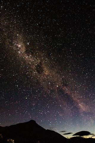 iPhone Fondos de pantalla Noche, estrellada, cielo