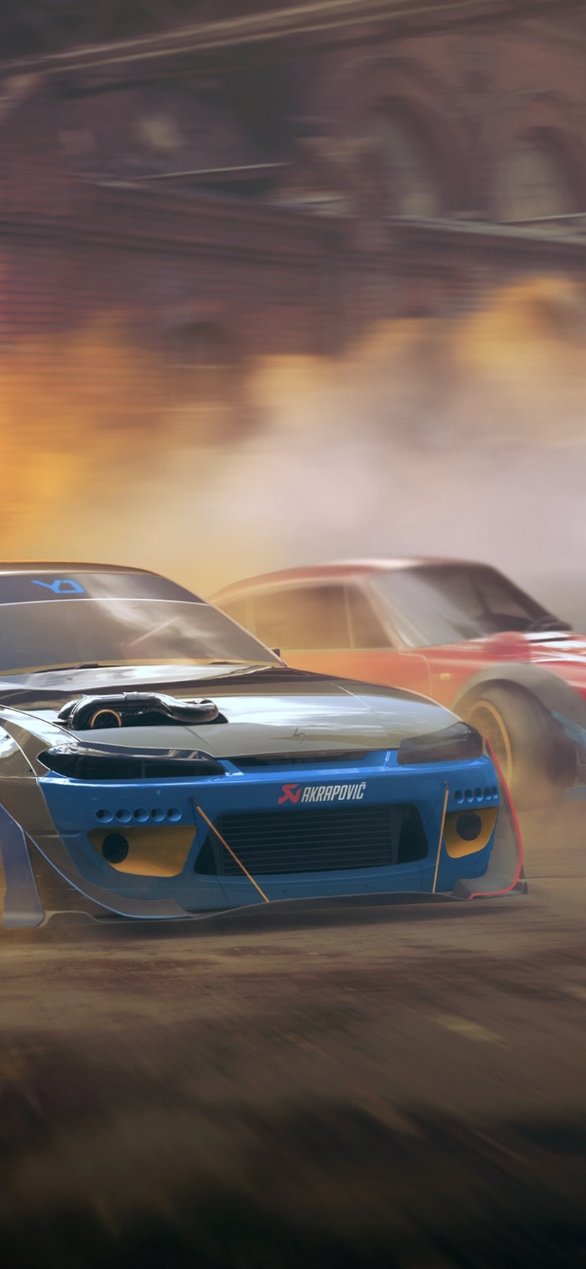 Nissan Silvia S15 And Porsche 911 Cars Speed Dust 828x1792 Iphone
