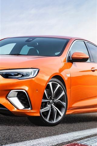 iPhone Fondos de pantalla Opel coche naranja 2018